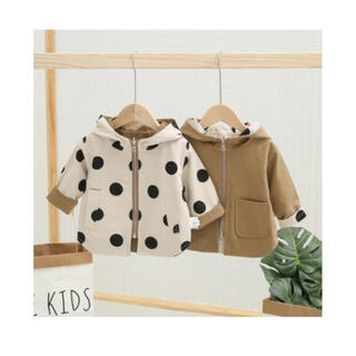 mikihouse - 韓国子供服 リバーシブルジャンパー ドットジャンパー