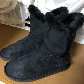 アクシーズファム(axes femme)のaxes femme ムートンブーツ ブラック Lサイズ(ブーツ)