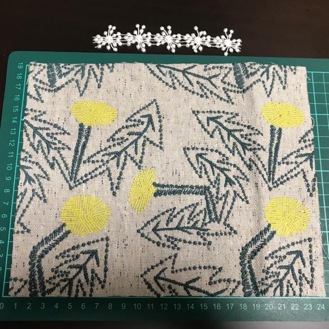 mina perhonen(ミナペルホネン)のミナペルホネン たんぽぽ  ブルーグレー ハンドメイドの素材/材料(生地/糸)の商品写真