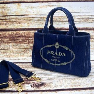 PRADA - プラダ カナパ バッグ Sサイズ ブルー