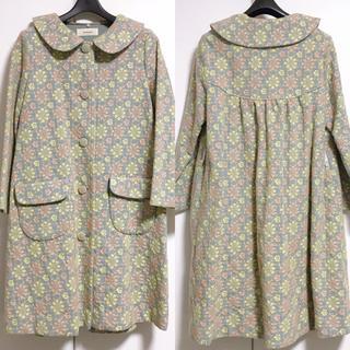 フランシュリッペ(franche lippee)のネセセア コンペイトウの花刺繍コート(ロングコート)