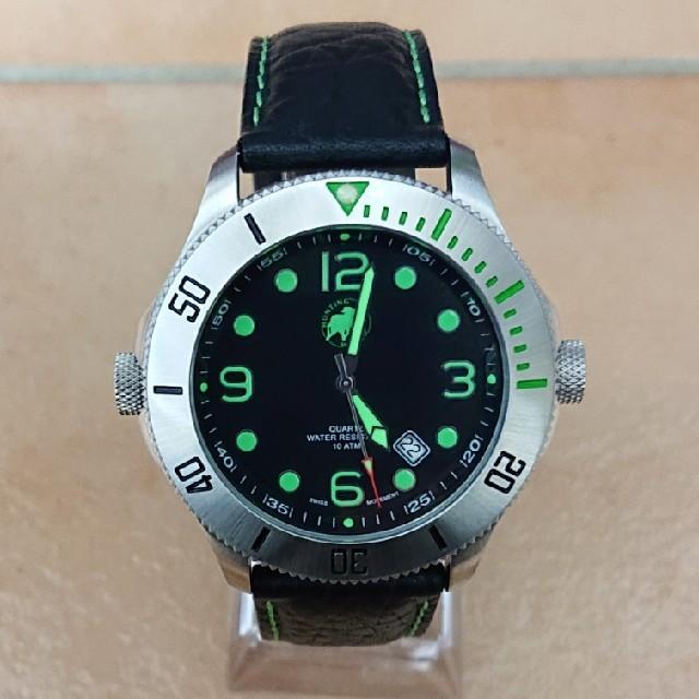 HUNTING WORLD - 美品 ハンティングワールド クォーツ メンズ腕時計の通販