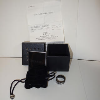 ディーゼル(DIESEL)のDIESEL DX0051 ワーディング リング 指輪 ディーゼル 9号ブラック(リング(指輪))
