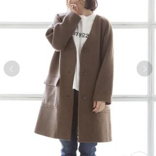 coen - coen (コーエン) カバーリングウールVネックロングコート☆