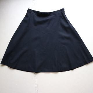 アンタイトル(UNTITLED)の美品アンタイトル/秋冬ウール フレアスカートL/黒色(ひざ丈スカート)