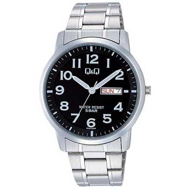 ブラック[シチズン キューアンドキュー]CITIZEN Q&Q 腕時計 ステンレの通販