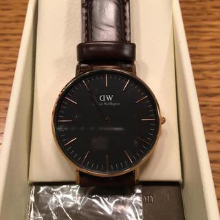ダニエルウェリントン(Daniel Wellington)の新品未使用 DW ダニエル ウエリントン クラシック ブラック ニューヨーク(腕時計(アナログ))