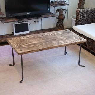 wood iron table(ローテーブル)