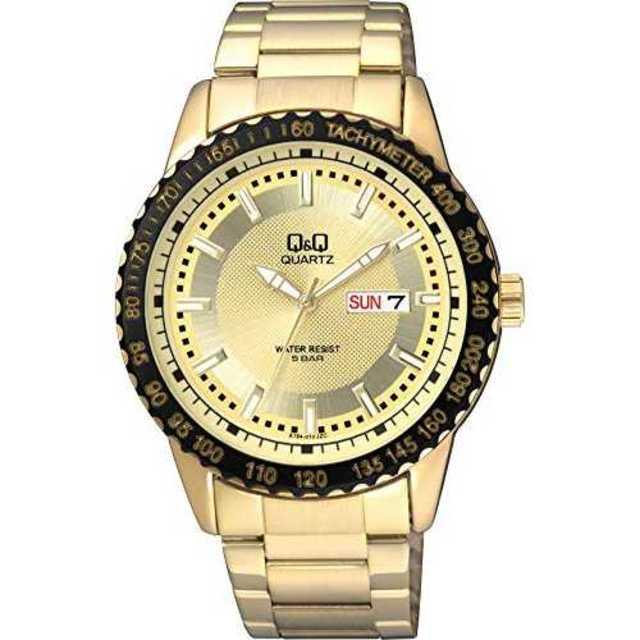 [シチズン Q&Q] 腕時計 A194-010 メンズ ゴールドの通販