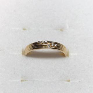 オレフィーチェ K18YG ダイヤモンドリング 10号