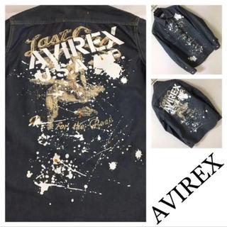 AVIREX - ◆AVIREX アヴィレックス◆シャンブレー ワーク シャツ ペイント ペンキ