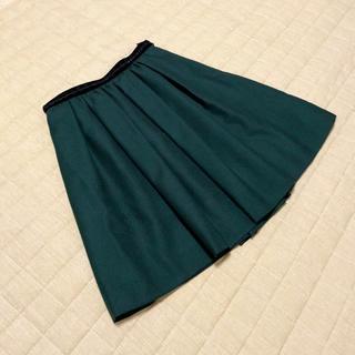 アプワイザーリッシェ(Apuweiser-riche)のアプワイザーリッシェ 深緑 スカート グリーン クリスマス ウール(ミニスカート)
