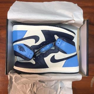 ナイキ(NIKE)のNIKE AIR JORDAN1 RETRO HIGH OG OBSIDIAN(スニーカー)