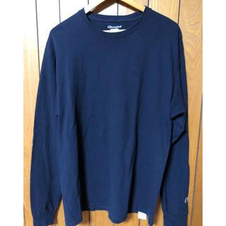 チャンピオン(Champion)のchampion チャンピオン ロンT  Lサイズ ネイビー  美品❗️(Tシャツ/カットソー(七分/長袖))