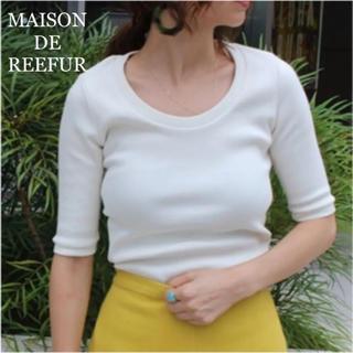 メゾンドリーファー(Maison de Reefur)のメゾンドリーファー リブTシャツ 38(Tシャツ(長袖/七分))
