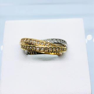 750(K18) スリーカラー フルエタニティ ダイヤモンドリング D:0.62(リング(指輪))