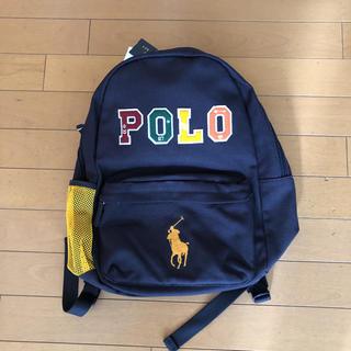 ポロラルフローレン(POLO RALPH LAUREN)の新品タグ付き ラルフローレン キャンバスリュック ネイビー(リュックサック)
