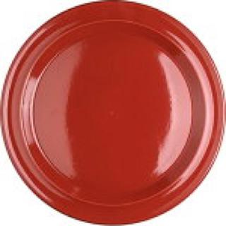 エミールアンリ(EmileHenry)のEmilehenry エミールアンリ 赤 皿 26cm カフェ 複数枚在庫有(食器)