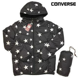 コンバース(CONVERSE)の新品 L CONVERSE コンバース 星柄 スター 本格 ダウンジャケット(ダウンジャケット)
