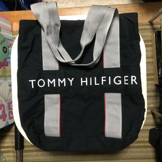 トミーヒルフィガー(TOMMY HILFIGER)のトミーヒルフィガー 男女兼用 ブラックカラー トートバッグ 正規品(トートバッグ)