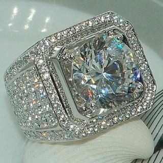 💎新品 未使用💎ニューファッション フルダイヤモンドメンズリング(リング(指輪))