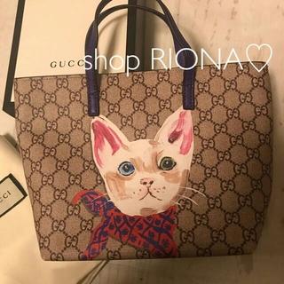 Gucci - 新作 GUCCI グッチ グッチチルドレン トートバック GGスプリーム 猫