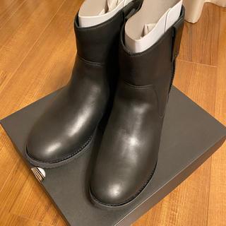 アグ(UGG)のugg レザー ブラック ブーツ メンズ(ブーツ)