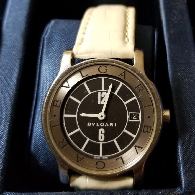 BVLGARI - 正規品 BVLGARI メンズ 腕時計 黒文字盤 中古品 本革 の通販