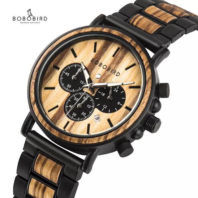 腕時計 BOBO BIRD 木製腕時計 ボボバード ウッドウォッチ クロノグラフの通販