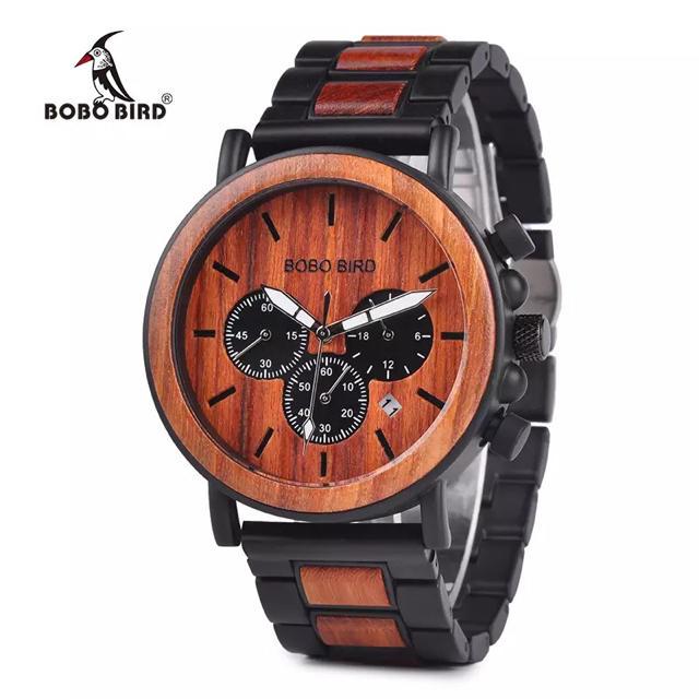 腕時計 BOBO BIRD メンズ クロノグラフ ボボバード 木製腕時計 ウッドの通販