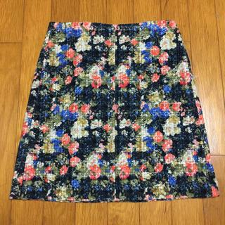 マカフィー(MACPHEE)の新品同様 MACPHEE(トゥモローランド)花柄スカート(36)(ミニスカート)