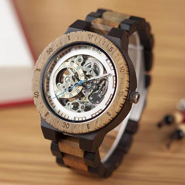 BOBO BIRD メンズ 腕時計 スケルトン 機械式腕時計 かっこいいの通販