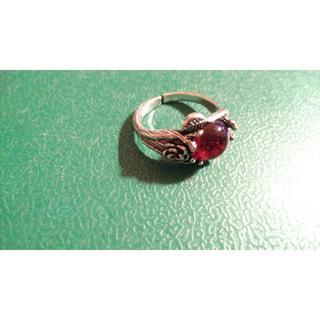アルテミスクラシック(Artemis Classic)のSILVER925 ROSE motif REDSTONE RING (リング(指輪))