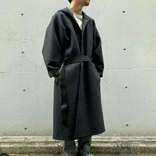 SUNSEA - sunsea サンシー 19aw メルトン ジェダイ コート 黒 2