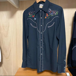 Jieda - 刺繍入りウエスタンシャツ