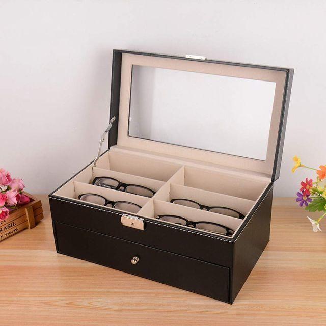 メガネ サングラス 収納ケース ボックス コレクションケース ジュエリー 腕時計の通販