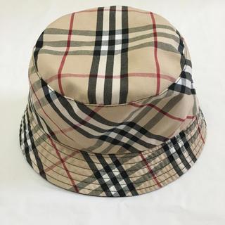 BURBERRY - 未使用★定番★リバーシブル バーバリー  バケットハット 帽子
