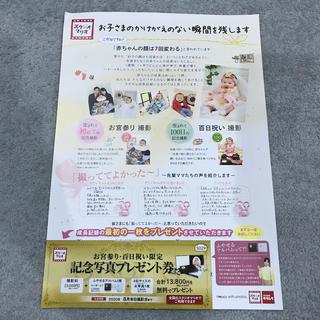 キタムラ(Kitamura)のスタジオマリオ お宮参り 100日祝い 無料券 (その他)