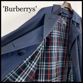 BURBERRY - BURBERRY バーバリー トレンチコート レディース ネイビー 襟・裏地総柄
