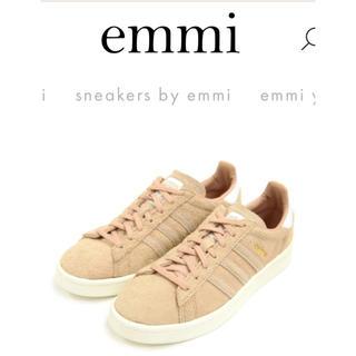 アディダス(adidas)のemmi アディダス CAMPUS 22 スニーカー 靴 ピンク 限定 美品(スニーカー)