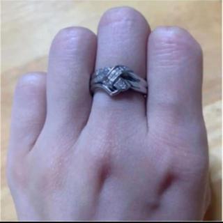 【格安☆】Pt850 ダイヤモンドリング(リング(指輪))