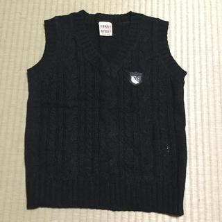 ニッセン(ニッセン)の子供服 ベスト 黒 120cm(ジャケット/上着)