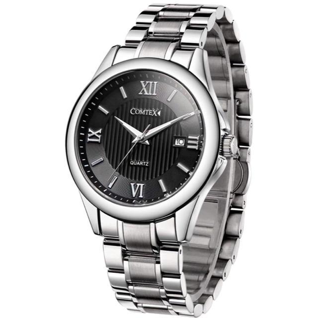 腕時計 ローマ字 カレンダー ステンレス アナログ おしゃれ 防水 時計の通販