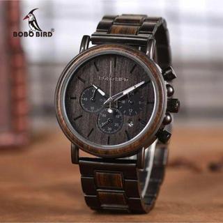 【新品・未使用】BOBO BIRD メンズ腕時計(ダークブラウン)