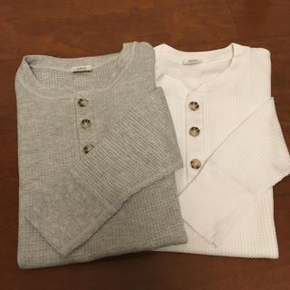 JEMORGAN - JEMORGAN サーマル Tシャツ ワッフル ヘンリーネック 2枚