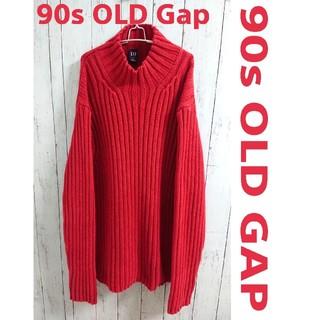 ギャップ(GAP)の90s OLD GAP オールド ギャップ  赤 ビッグサイズ ニット セーター(ニット/セーター)