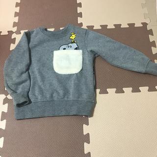 サンカンシオン(3can4on)の新品✧サンカンシオン スヌーピー 裏起毛 トレーナー(Tシャツ/カットソー)