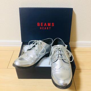 ビームス(BEAMS)のBEAMS オックスフォードシューズ おじ靴 シルバー(ローファー/革靴)