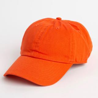ウィゴー(WEGO)の【新品未使用】 LOWキャップ オレンジ(キャップ)