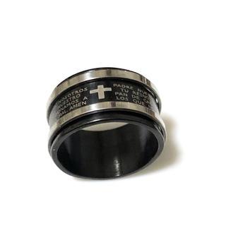同時購入で300円 ステンレス指輪 十字架 ライン(リング(指輪))